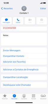 Como bloquear chamadas de um número específico - Apple iPhone 11 Pro - Passo 6