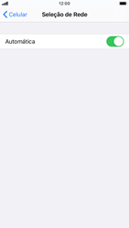 Como selecionar o tipo de rede adequada - Apple iPhone 8 - Passo 4