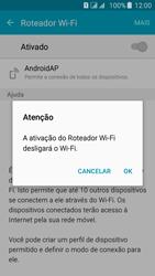 Como usar seu aparelho como um roteador de rede Wi-Fi - Samsung Galaxy J5 - Passo 10