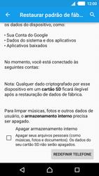 Como restaurar as configurações originais do seu aparelho - Sony Xperia M4 Aqua - Passo 6