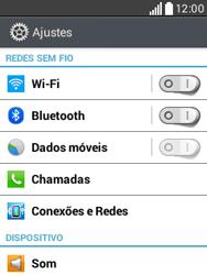 Como configurar uma rede Wi-Fi - LG L20 - Passo 3
