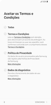 Como configurar pela primeira vez - Samsung Galaxy S9 Plus - Passo 8
