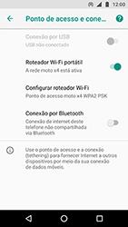 Como usar seu aparelho como um roteador de rede Wi-Fi - Motorola Moto X4 - Passo 9