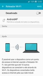 Como usar seu aparelho como um roteador de rede Wi-Fi - Samsung Galaxy J2 Duos - Passo 5