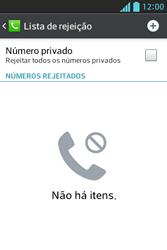 Como bloquear chamadas de um número específico - LG Optimus L5 - Passo 7