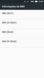 Como encontrar o número de IMEI do seu aparelho - Lenovo Vibe C2 - Passo 6