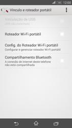 Como usar seu aparelho como um roteador de rede Wi-Fi - Sony Xperia E4G - Passo 5