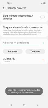 Como bloquear chamadas de um número específico - Samsung Galaxy A21s - Passo 11