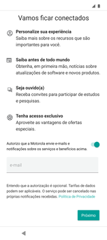 Como configurar pela primeira vez - Motorola Edge - Passo 12