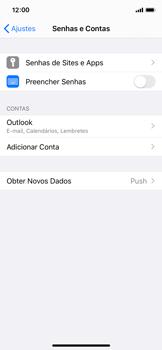 Como configurar seu celular para receber e enviar e-mails - Apple iPhone X - Passo 9