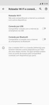 Como usar seu aparelho como um roteador de rede Wi-Fi - Motorola Moto G8 Power - Passo 5