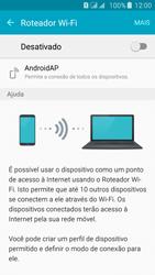 Como usar seu aparelho como um roteador de rede Wi-Fi - Samsung Galaxy J5 - Passo 5