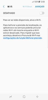 Como configurar uma rede Wi-Fi - Samsung Galaxy S8 - Passo 5
