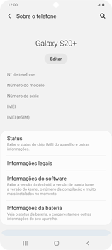 Como encontrar o número de IMEI do seu aparelho - Samsung Galaxy S20 Plus 5G - Passo 4