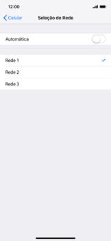 Como selecionar o tipo de rede adequada - Apple iPhone XR - Passo 6