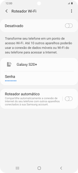 Como usar seu aparelho como um roteador de rede Wi-Fi - Samsung Galaxy S20 Plus 5G - Passo 10