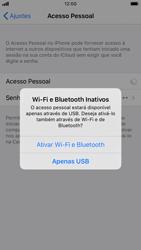 Como usar seu aparelho como um roteador de rede Wi-Fi - Apple iPhone 8 - Passo 6