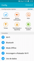 Como ativar e desativar o modo avião no seu aparelho - Samsung Galaxy J3 Duos - Passo 3