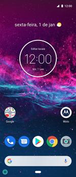 Como ativar e desativar uma rede de dados - Motorola One Action - Passo 1