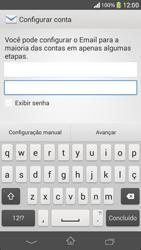 Como configurar seu celular para receber e enviar e-mails - Sony Xperia SP - Passo 6