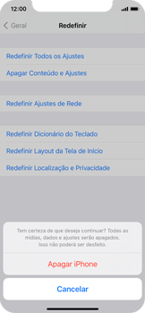 Como restaurar as configurações originais do seu aparelho - Apple iPhone 11 Pro - Passo 7