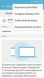 Como usar seu aparelho como um roteador de rede Wi-Fi - Samsung Galaxy S7 - Passo 7