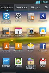 Como configurar seu celular para receber e enviar e-mails - LG Optimus L5 - Passo 3