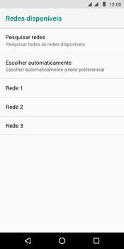 Como selecionar o tipo de rede adequada - Motorola Moto E5 - Passo 9
