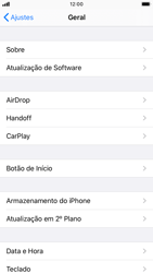 Como encontrar o número de IMEI do seu aparelho - Apple iPhone 8 - Passo 3