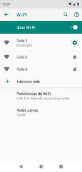 Como configurar uma rede Wi-Fi - Motorola Moto G7 Play - Passo 8