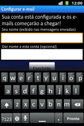 Como configurar seu celular para receber e enviar e-mails - Huawei U8667 - Passo 17