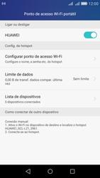 Como usar seu aparelho como um roteador de rede Wi-Fi - Huawei Y6 - Passo 9