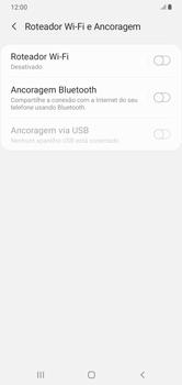 Como usar seu aparelho como um roteador de rede Wi-Fi - Samsung Galaxy A10 - Passo 5