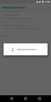 Como selecionar o tipo de rede adequada - Motorola Moto E5 - Passo 10