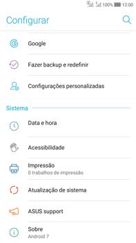 Como encontrar o número de IMEI do seu aparelho - Asus Zenfone Selfie - Passo 3