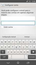 Como configurar seu celular para receber e enviar e-mails - Sony Xperia E4G - Passo 5