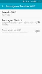 Como usar seu aparelho como um roteador de rede Wi-Fi - Samsung Galaxy J3 Duos - Passo 4