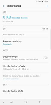 Como ativar e desativar uma rede de dados - Samsung Galaxy S9 Plus - Passo 7