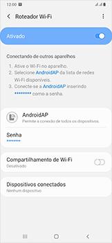 Como usar seu aparelho como um roteador de rede Wi-Fi - Samsung Galaxy A50 - Passo 12