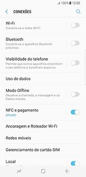 Como ativar e desativar o modo avião no seu aparelho - Samsung Galaxy S8 - Passo 4