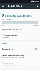 Como ativar e desativar uma rede de dados - Motorola Moto C Plus - Passo 5