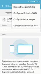 Como usar seu aparelho como um roteador de rede Wi-Fi - Samsung Galaxy S7 Edge - Passo 7
