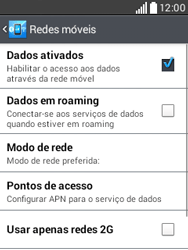 Como configurar a internet do seu aparelho (APN) - LG L20 - Passo 5