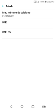 Como encontrar o número de IMEI do seu aparelho - LG K12+ - Passo 5