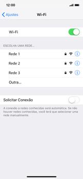 Como configurar uma rede Wi-Fi - Apple iPhone X - Passo 4
