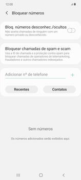 Como bloquear chamadas de um número específico - Samsung Galaxy Note 20 5G - Passo 8