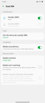 Como ativar e desativar o roaming de dados - LG Velvet 5G - Passo 5