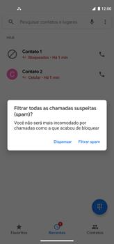 Como bloquear chamadas de um número específico - Motorola Moto G8 Power - Passo 8