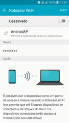 Como usar seu aparelho como um roteador de rede Wi-Fi - Samsung Galaxy J3 Duos - Passo 5