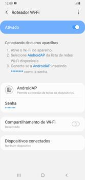 Como usar seu aparelho como um roteador de rede Wi-Fi - Samsung Galaxy A10 - Passo 11